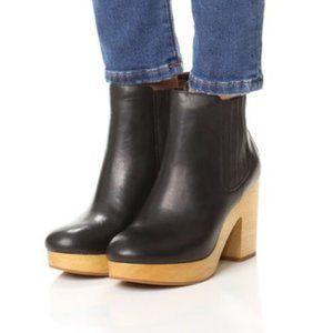 Madewell Marco Chelsea Boot Black Leather Heels 9